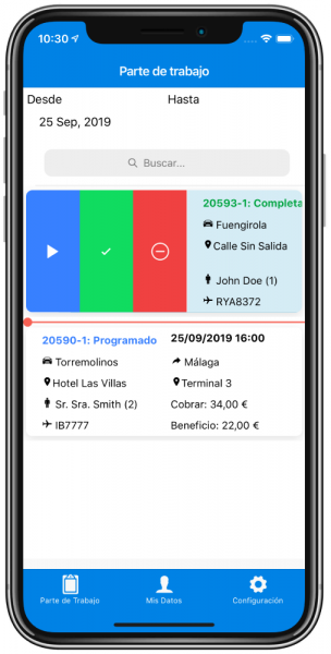App VeoTransfer Conductores VTC